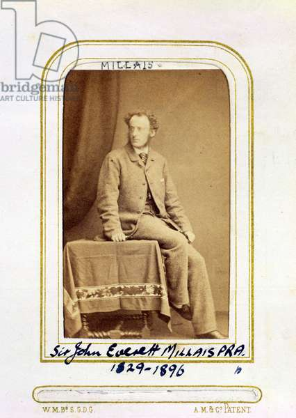 Portrait of Sir John Everett Millais (1829-96) (albumen print)