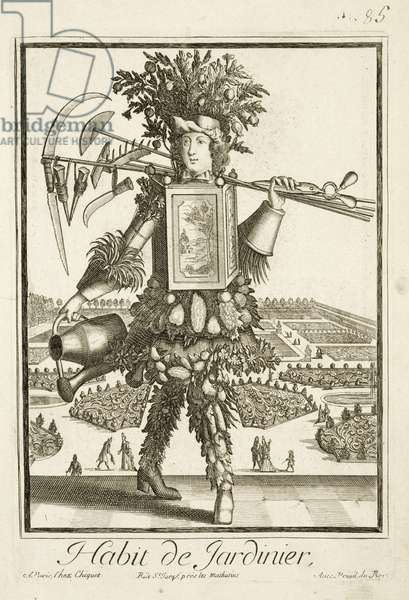 The Gardener's Costume, illustration from the 'Dictionnaire des Sciences' by Denis Diderot (1713-84) published c.1770 (engraving)