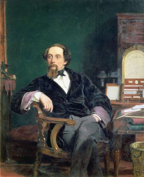 Portrait of Charles Dickens (oil on canvas)