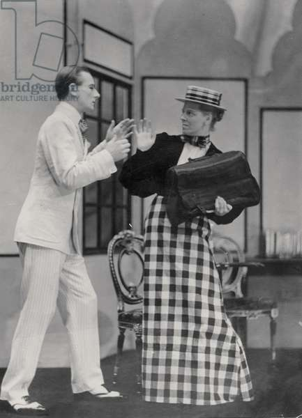 Scene from the Importance of Being Earnest, by Oscar Wilde (1854-1900) at the Lyric Hammersmith, on 7 July 1930 (b/w photo)