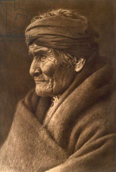 Geronimo, Chief of the Apache, as an old man in 1907 (photogravure)