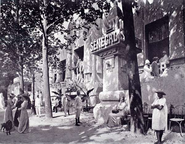 Sudan and Senegal, Exposition Universelle, Paris, 1900 (b/w photo)