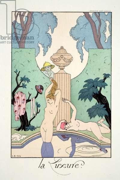 Lust, from 'Falbalas & Fanfreluches, Almanach des Modes Présentes, Passées et Futures', 1925 (colour litho)