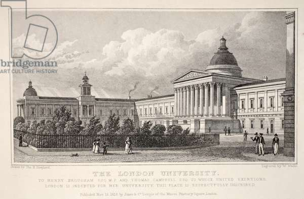 The London University, from 'London and it's Environs in the Nineteenth Century' pub. Jones & Co., 1827-1829 (engraving)