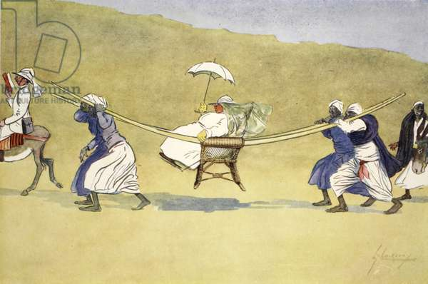 The Transit of Venus, from 'The Light Side of Egypt', 1908 (colour litho)
