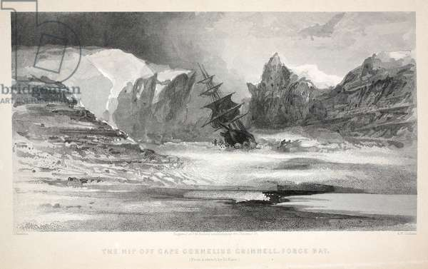 The Nip off Cape Cornelius Grinnell, Force Bay, illustration from 'The second Grinnell Expedition in Search of Sir John Franklin...', 1856 (engraving)