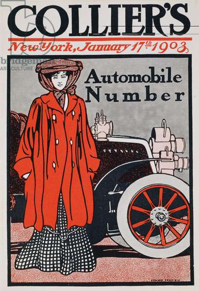 Cover illustration for the Automobile Number, Collier's Magazine, January 17th 1903 (colour litho)