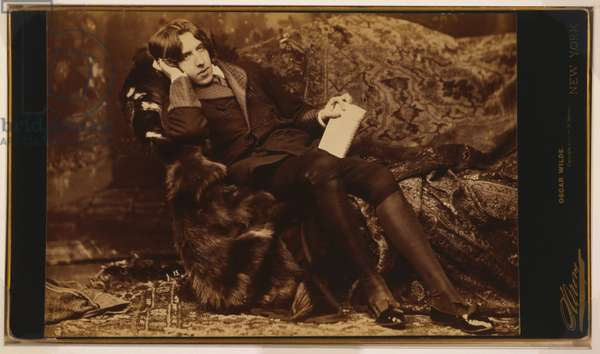 Portrait of Oscar Wilde, c.1822 (sepia photo)