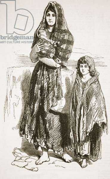 Woman and Girl of the Saltmarket, Glasgow, from 'The Illustrated London News', 1849 (engraving)
