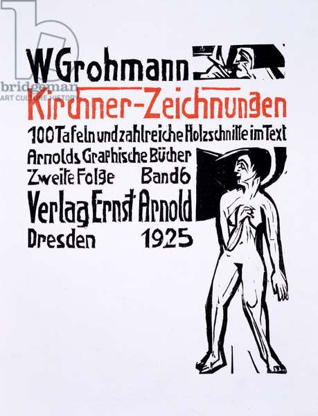 Title Page for a collection of 100 drawings by Ernst Ludwig Kirchner, published 1925 (woodcut)