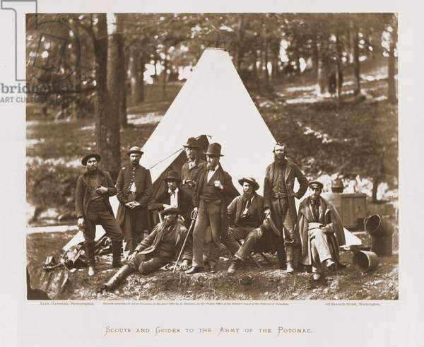 Scouts and Guides to the Army of the Potomac, 1862 (b/w photo)