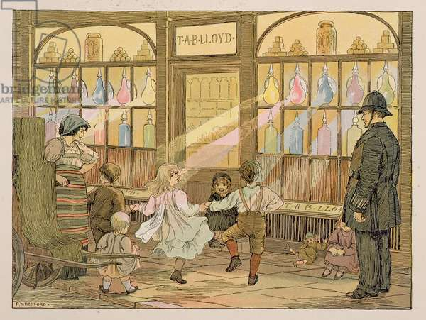 The Pharmacist, from 'The Book of Shops', 1899 (colour lithograph)
