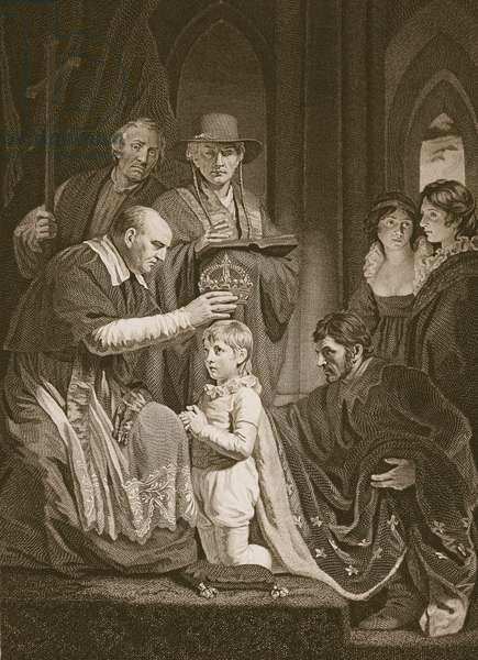 The Coronation of Henry VI, engraved by T. Holloway, illustration from David Hume's 'The History of England', pub. by R. Bowyer, London, 1812 (engraving)