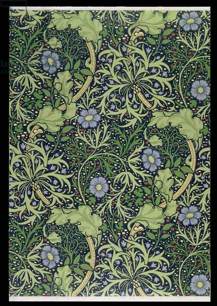 Seaweed Wallpaper Design, printed by John Henry Dearle (1860-1932), 1901 (wallpaper)