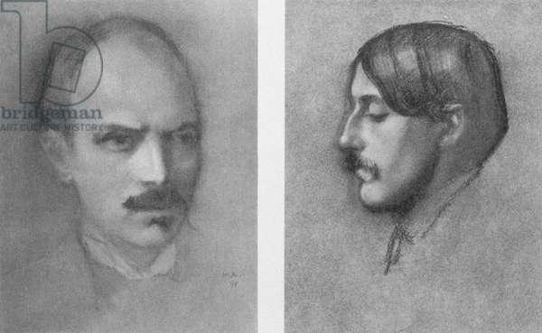 Maurice Hewlett (1861-1923), and Charles Condor (1868-1909), 1898 (litho)