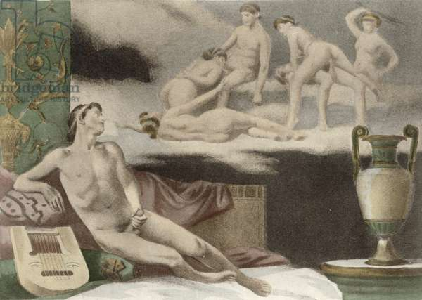 Ancient Times, plate XI from 'De Figuris Veneris' by F.K Forberg, engraved by artist, 1900 (litho)
