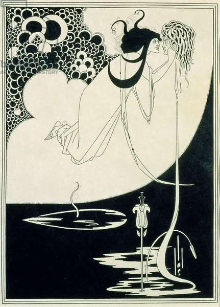 The Climax, illustration from 'Salome' by Oscar Wilde, 1893 (line block print)