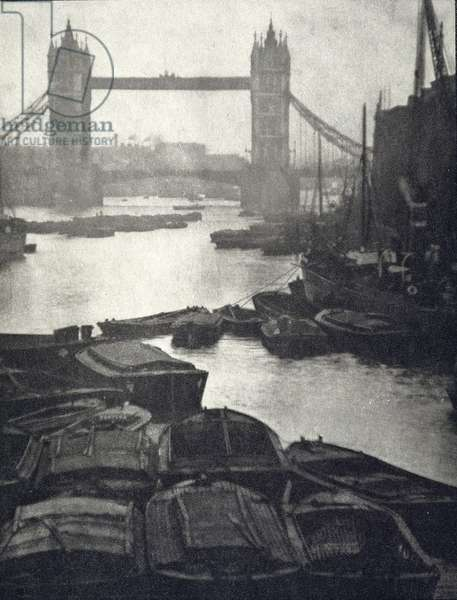Tower Bridge, from the limited edition portfolio 'London' published 1909 (photogravure)