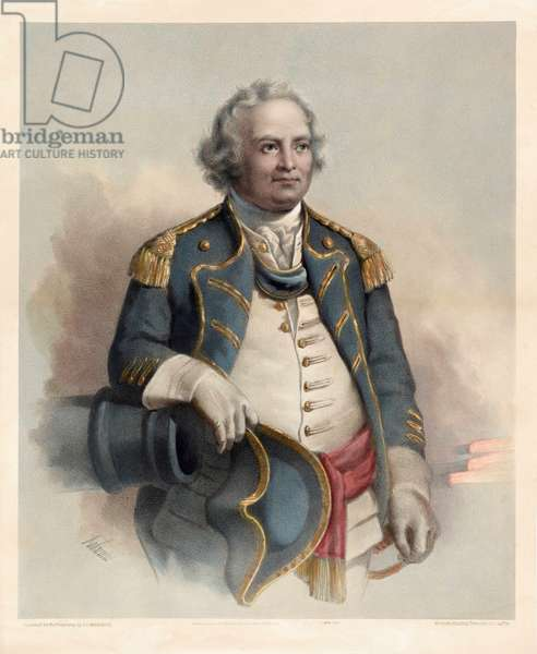 Major General Israel Putnam, pub. 1864 (colour litho)