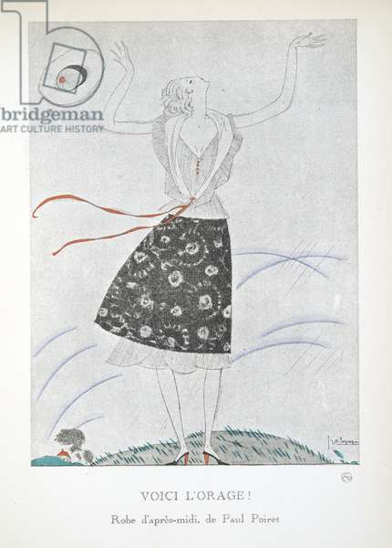 Voici l'Orage!, from a Collection of Fashion Plates, 1920 (pochoir print)