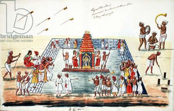 Ceremony (w/c on paper)