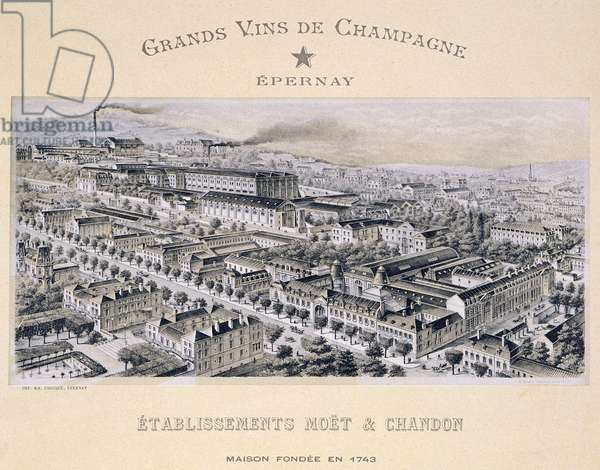 Moet & Chandon company, Epernay, from 'La France Vinicole', published by Moet & Chandon (litho)