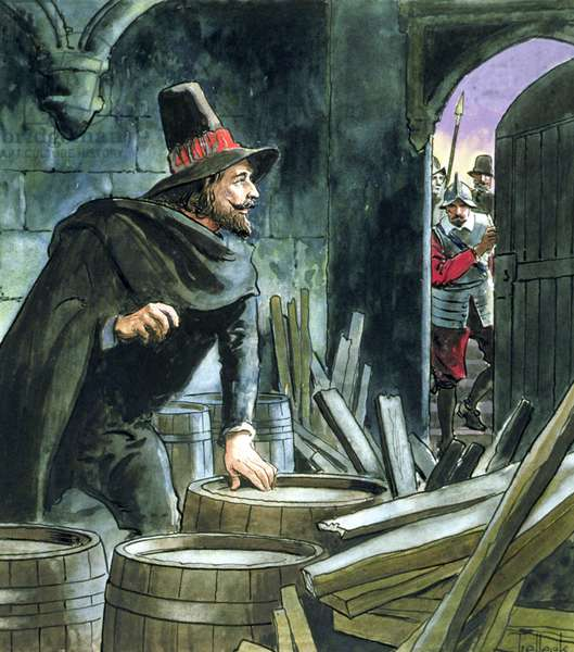 Guy Fawkes, from 'Peeps into the Past', published c.1900 (colour litho)