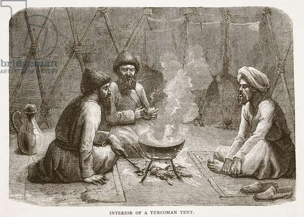 Interior of a Turcoman Tent, illustration from 'Cassell's Illustrated History of England' (engraving)