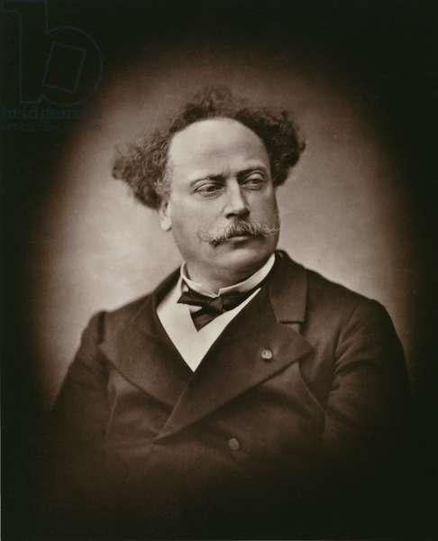 Alexandre Dumas Fils (1824-95), from 'Galerie Contemporaine', c.1874-78 (b/w photo)