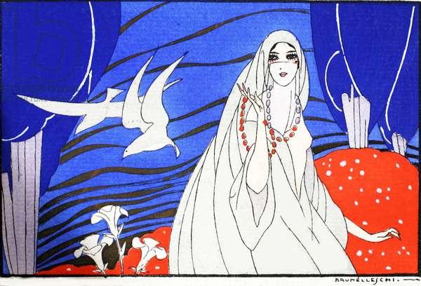 Arabian Nights (pochoir print)