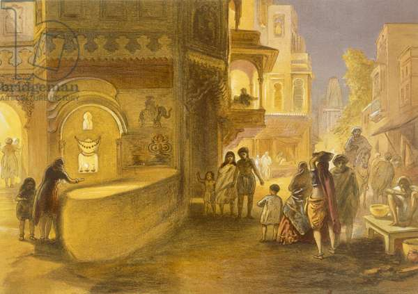 The Dewali or Festival of Lamps, from 'India Ancient and Modern', 1867 (colour litho)