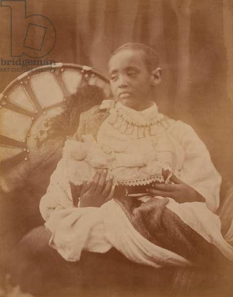 Prince Dejatch Alamayou of Abyssinia, c.1868 (b/w photo)