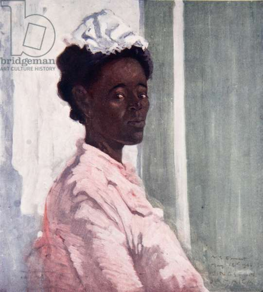 Rosie, a Jamaican Negress, from a portfolio of privately printed watercolours of 'The West Indies' (colour litho)