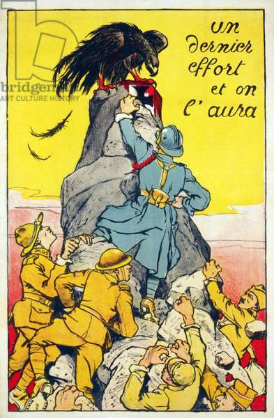 Un dernier effort et on l'aura pub. Paris c.1918 (colour litho)