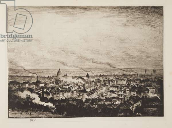 London from Parliament Hill, pub.1923 (etching)