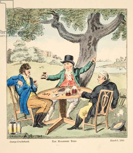 The Mulberry Tree, pub. 1808 (hand coloured engraving)