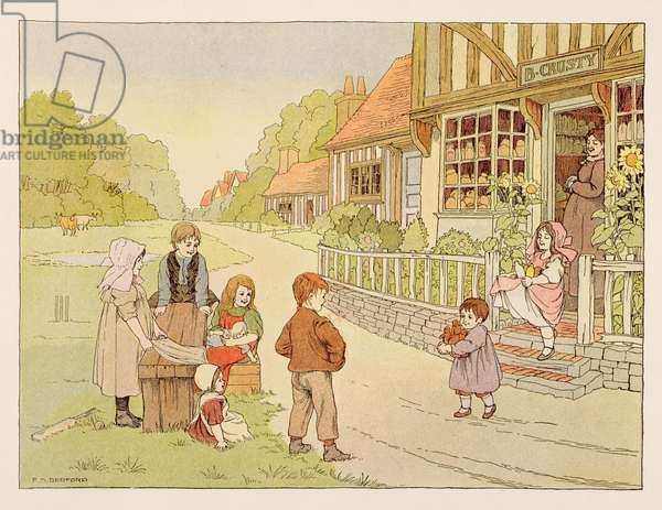 The Baker's Shop, from 'The Book of Shops', 1899 (colour litho)