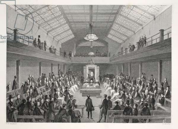 House of Commons, from 'London Interiors with their Costumes and Ceremonies' pub. Joseph Mead, London, c.1843 (steel engraving)