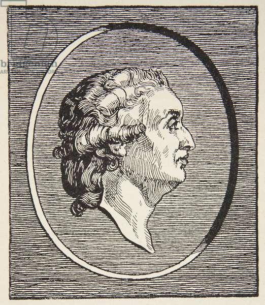 Condorcet, illustration from 'Histoire de la Nation Francaise', Sciences, Volumes I & II, by Gabriel Hanotaux (1853-1944), 1924 (engraving) (b/w photo)