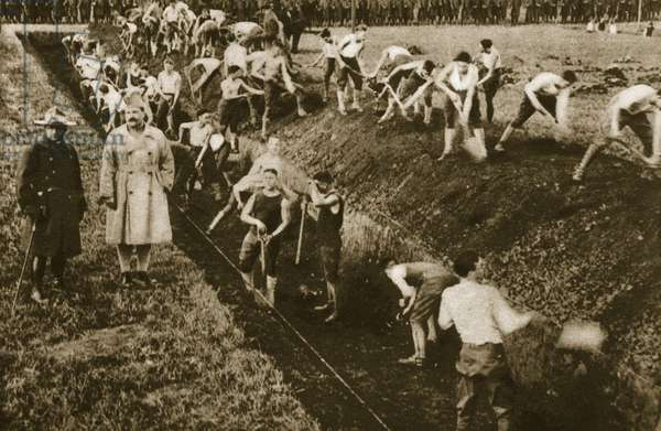 'You're in the army now, you're not behind the plough' (sepia photo)