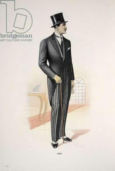 Gentleman's Morning Dress, illustration from Mode Officielle, pub. 1928 (colour litho)