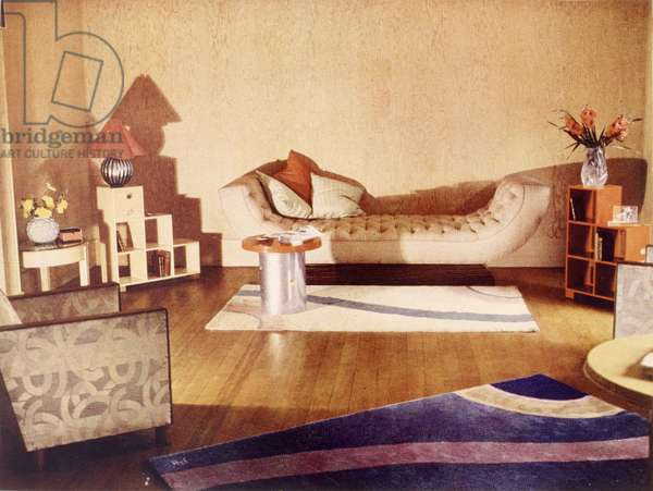 Room set/lounge designed by Joel, Betty (1896-1985), for Derick Patmore for Colour Schemes for the Modern Home, London 1933