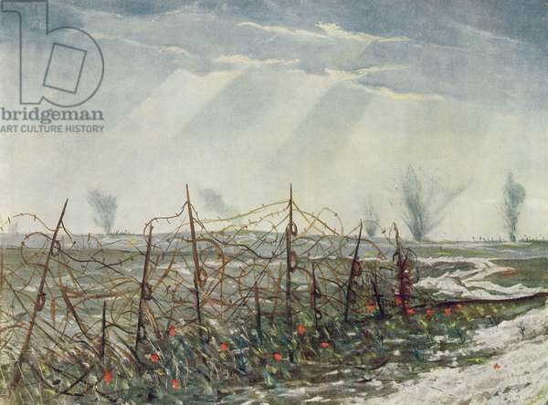 From a Front Line Trench, from British Artists at the Front, Continuation of The Western Front, 1918 (colour litho)