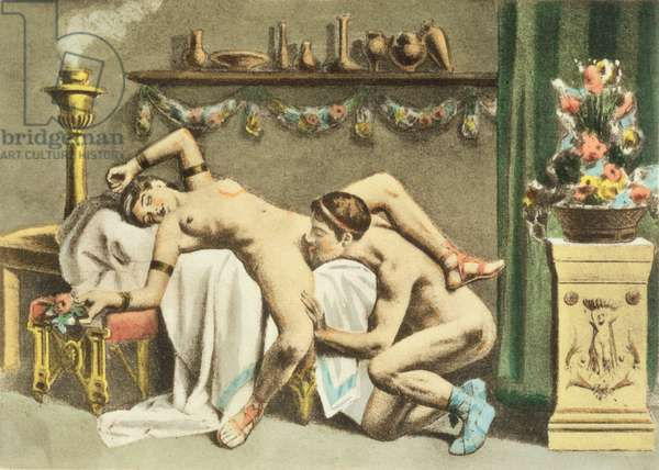 Ancient Times, plate XII of 'De Figuris Veneris' by F.K. Forberg, engraved by the artist, 1900 (litho)