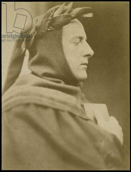 Portrait of Sir John Everett Millais (1829-96) Dressed as Dante (sepia photo)