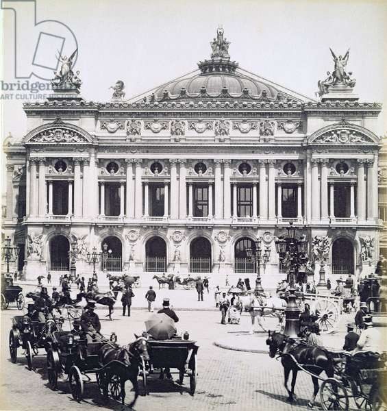 The Opera House, Paris, 14th May 1893 (b/w photo)