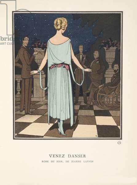 Venez Danser, from a Collection of Fashion Plates, 1921 (pochoir print)