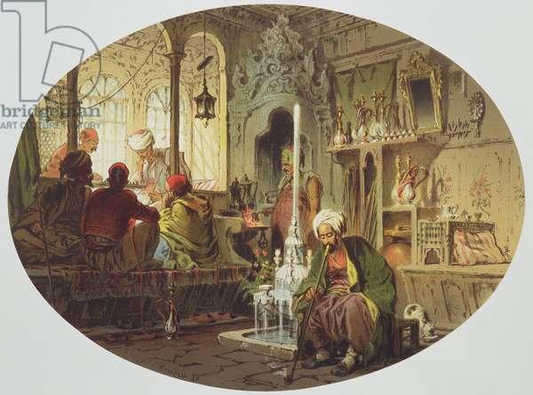 Ottoman Coffee House, 1862 (colour litho)