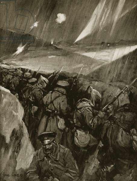 Bulgarians besieging Adrianople, 1912-13 (litho)
