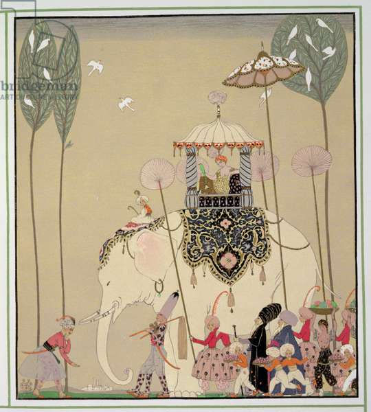Imperial Procession (colour litho)